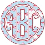 Flying Pigs Monogram Decal - Custom Sized (Personalized)