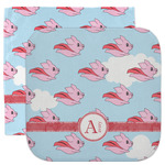 Flying Pigs Facecloth / Wash Cloth (Personalized)