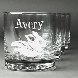 Flying Pigs Whiskey Glasses (Set of 4) (Personalized)