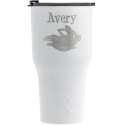 Flying Pigs RTIC Tumbler - White - Engraved Front (Personalized)