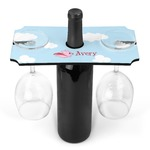 Flying Pigs Wine Bottle & Glass Holder (Personalized)