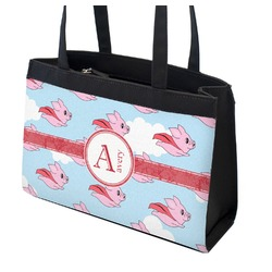Flying Pigs Zippered Everyday Tote (Personalized)
