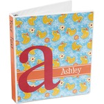 Rubber Duckies & Flowers 3-Ring Binder (Personalized)