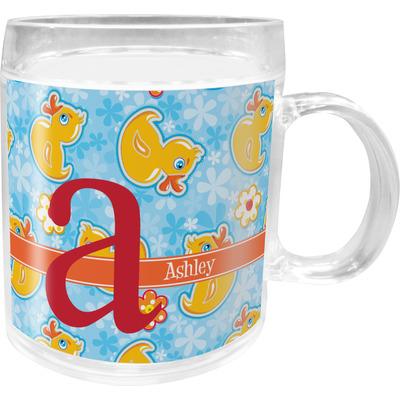 Rubber Duckies & Flowers Acrylic Kids Mug (Personalized)