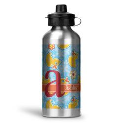 Rubber Duckies & Flowers Water Bottle - Aluminum - 20 oz (Personalized)