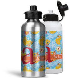 Rubber Duckies & Flowers Water Bottles- Aluminum (Personalized)
