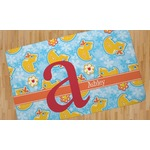 Rubber Duckies & Flowers Area Rug (Personalized)