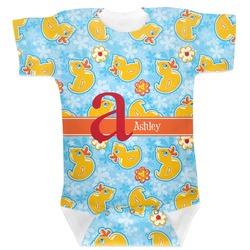 Rubber Duckies & Flowers Baby Bodysuit (Personalized)