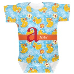 Rubber Duckies & Flowers Baby Bodysuit (Personalized)