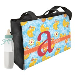 Rubber Duckies & Flowers Diaper Bag (Personalized)