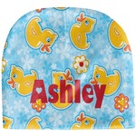 Rubber Duckies & Flowers Baby Hat (Beanie) (Personalized)