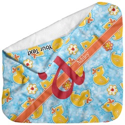 Rubber Duckies & Flowers Baby Hooded Towel (Personalized)