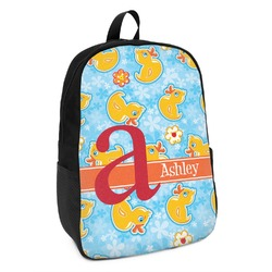 Rubber Duckies & Flowers Kids Backpack (Personalized)