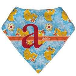 Rubber Duckies & Flowers Bandana Bib (Personalized)