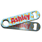 Rubber Duckies & Flowers Bar Bottle Opener w/ Name and Initial