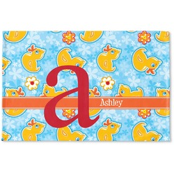 Rubber Duckies & Flowers Woven Mat (Personalized)