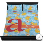Rubber Duckies & Flowers Duvet Cover Set (Personalized)