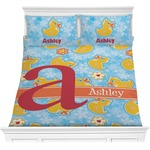 Rubber Duckies & Flowers Comforter Set (Personalized)