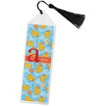 Rubber Duckies & Flowers Book Mark w/Tassel (Personalized)