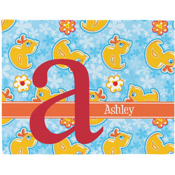Rubber Duckies & Flowers Placemat (Fabric) (Personalized)