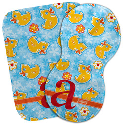 Rubber Duckies & Flowers Burp Cloth (Personalized)