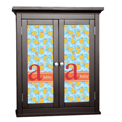 Rubber Duckies & Flowers Cabinet Decal - XLarge (Personalized)