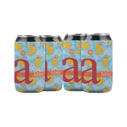 Rubber Duckies & Flowers Can Sleeve (12 oz) (Personalized)