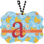 Rubber Duckies & Flowers Rear View Mirror Charm (Personalized)
