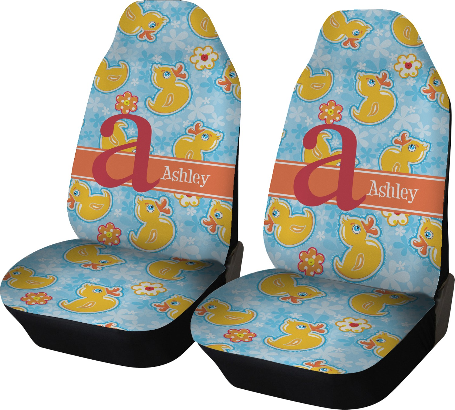 Rubber Duckies Amp Flowers Car Seat Covers Set Of Two