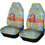 Rubber Duckies & Flowers Car Seat Covers (Set of Two) (Personalized)