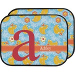 Rubber Duckies & Flowers Car Floor Mats (Back Seat) (Personalized)