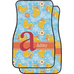 Rubber Duckies & Flowers Car Floor Mats (Front Seat) (Personalized)