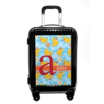 Rubber Duckies & Flowers Carry On Hard Shell Suitcase (Personalized)