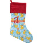 Rubber Duckies & Flowers Christmas Stocking (Personalized)