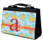 Rubber Duckies & Flowers Classic Tote Purse w/ Leather Trim (Personalized)