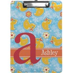 Rubber Duckies & Flowers Clipboard (Personalized)