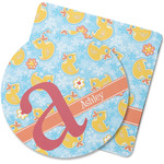Rubber Duckies & Flowers Rubber Backed Coaster (Personalized)