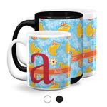Rubber Duckies & Flowers Coffee Mugs (Personalized)