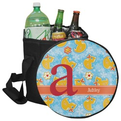 Rubber Duckies & Flowers Collapsible Cooler & Seat (Personalized)