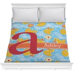 Rubber Duckies & Flowers Comforter (Personalized)