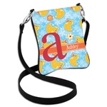 Rubber Duckies & Flowers Cross Body Bag - 2 Sizes (Personalized)