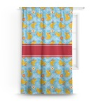 Rubber Duckies & Flowers Curtain (Personalized)