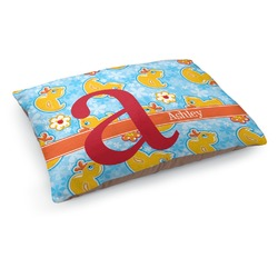 Rubber Duckies & Flowers Dog Pillow Bed (Personalized)