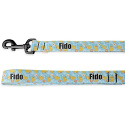 Rubber Duckies & Flowers Deluxe Dog Leash (Personalized)