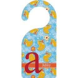 Rubber Duckies & Flowers Door Hanger (Personalized)
