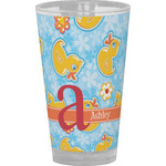 Rubber Duckies & Flowers Drinking / Pint Glass (Personalized)