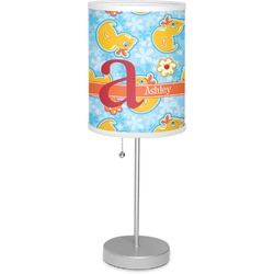 "Rubber Duckies & Flowers 7"" Drum Lamp with Shade (Personalized)"