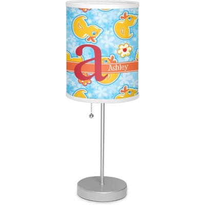 """Rubber Duckies & Flowers 7"""" Drum Lamp with Shade (Personalized)"""