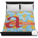 Rubber Duckies & Flowers Duvet Cover (Personalized)