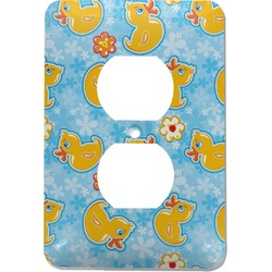 Rubber Duckies & Flowers Electric Outlet Plate (Personalized)